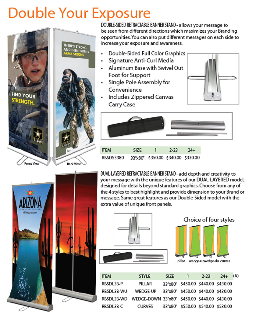 Double Sided / Dual Layered Banner Stands