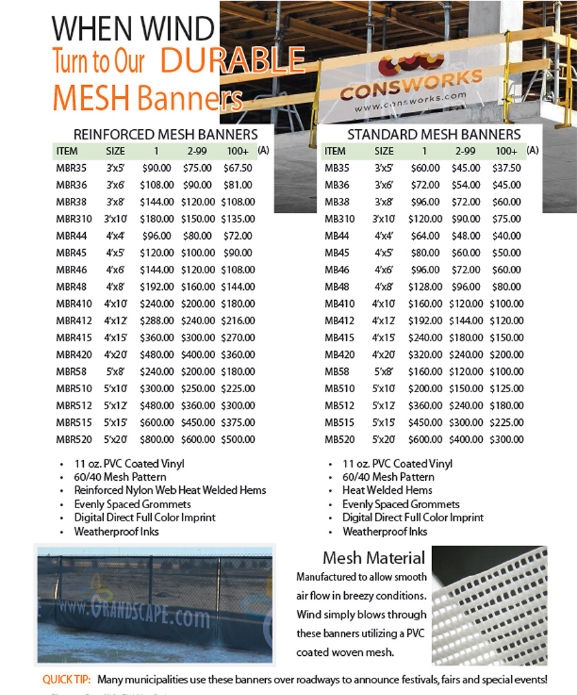 Durable Mesh Banners