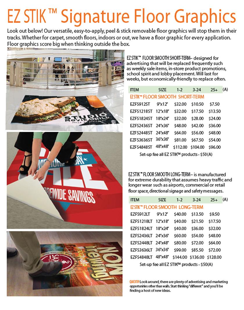 EZ STIK™ Signature Floor Graphics
