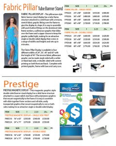 Fabric Pillar and Prestige Display