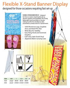 Flexible X-Stand Banner Display
