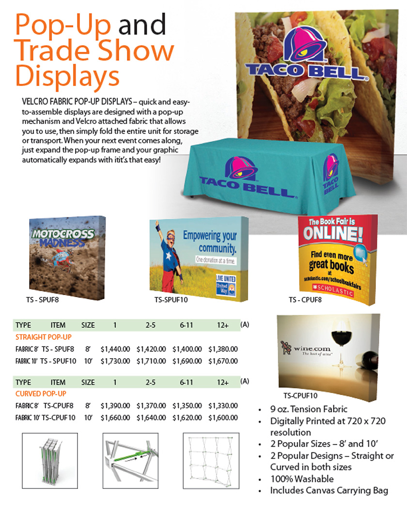 Pop-up and Trade Show Display
