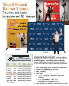 Step & Repeat Banner Stands